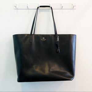 kate spade | black sawyer street maxi tote bow